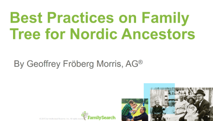 Best Practices on Family Tree for Nordic Ancestors