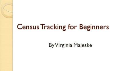 Census Tracking for Beginners