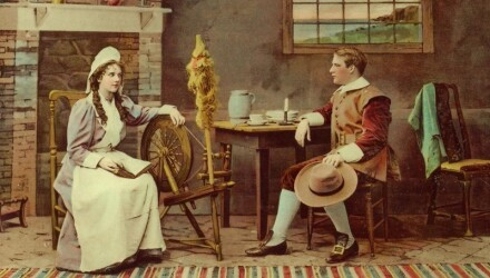 john alden and priscillan mullins, a mayflower couple with some of the most mayflower descendants