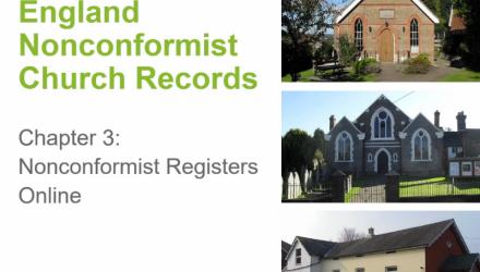 England Nonconformist Church Records: Online Records