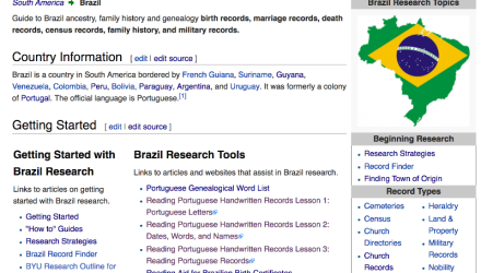Brazil Research With the Wiki Part 1 of 8: The Brazil Main Page