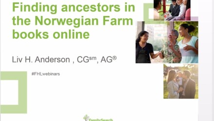 Finding ancestors in the Norwegian farm books online