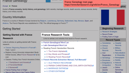 France Research With the Wiki Part 5 of 8: Reading Records in French and Latin