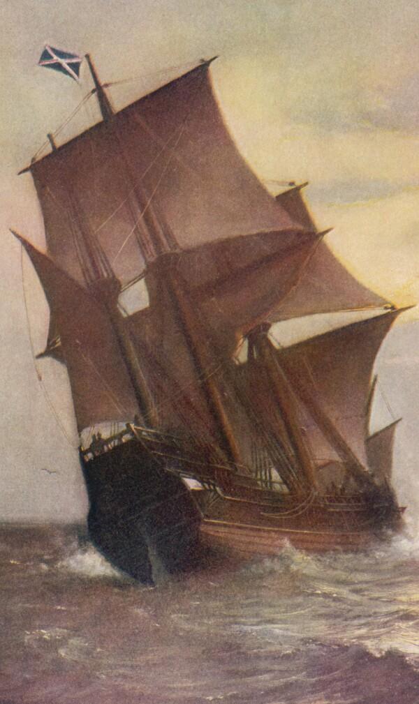 Mayflower ship painting