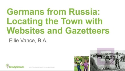 Germans from Russia: Locating the Town with Websites and Gazetteers