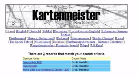 Kartenmeister.com Finding Places in the Former German Area of Poland