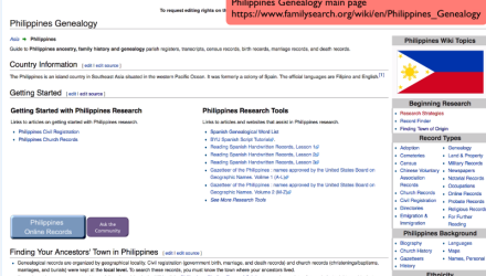 Philippines Research With the Wiki Part 1 of 7: The Philippines Main Page