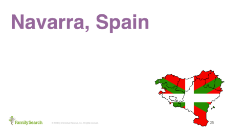 Finding Echeverria in Spain and France - Navarra, Spain