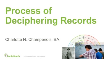German Paleography Seminar: Process of Deciphering Records