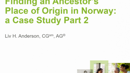 Finding an Ancestor's Place of Origin in Norway: Introduction