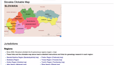 Slovakia Research With the Wiki Part 4 of 6: A Slovakian Region Page