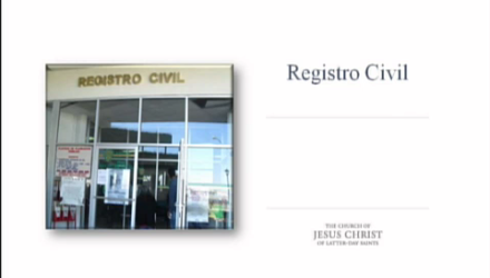 Lección 3: Registro Civil